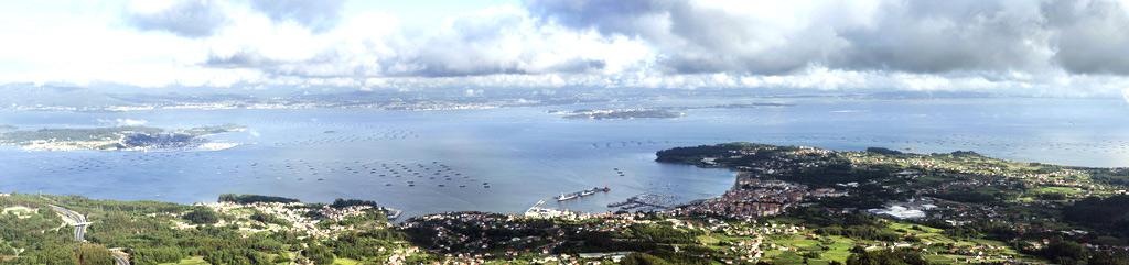 Bonita panorámica de las rías gallegas