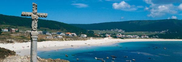 panorámica de una de las playas gallegas